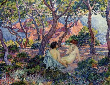 In the Shade of the Pines | Theo van Rysselberghe | oil painting