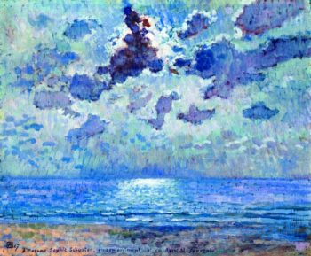 Jersey 1907 Moonlight | Theo van Rysselberghe | oil painting