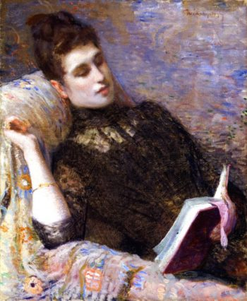 Lady Reading | Theo van Rysselberghe | oil painting
