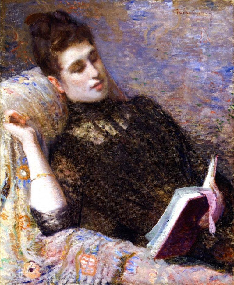 Lady Reading | Theo van Rysselberghe | oil painting