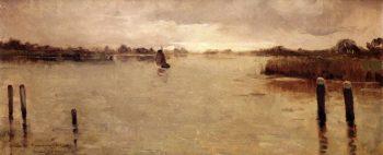 La Ile a Spaarnwoude | Theo van Rysselberghe | oil painting