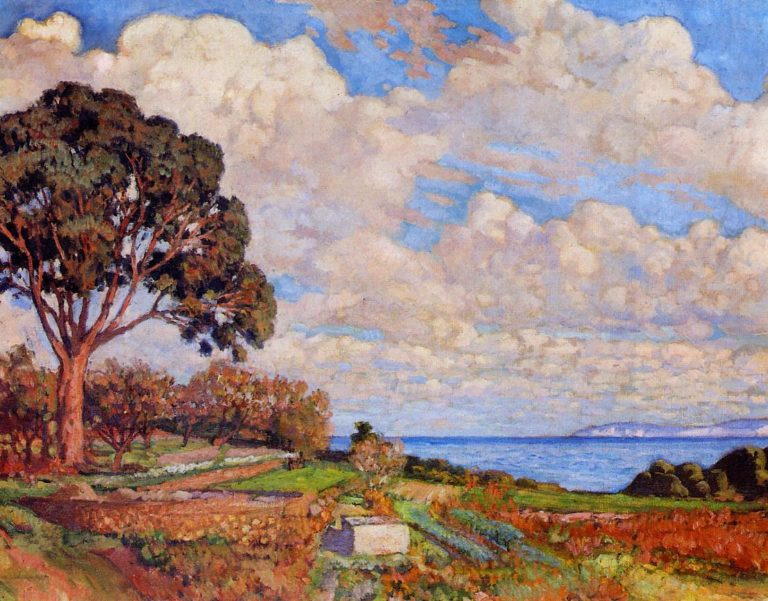 Large Tree near the Sea | Theo van Rysselberghe | oil painting