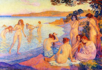 L'Heure Embrasee | Theo van Rysselberghe | oil painting
