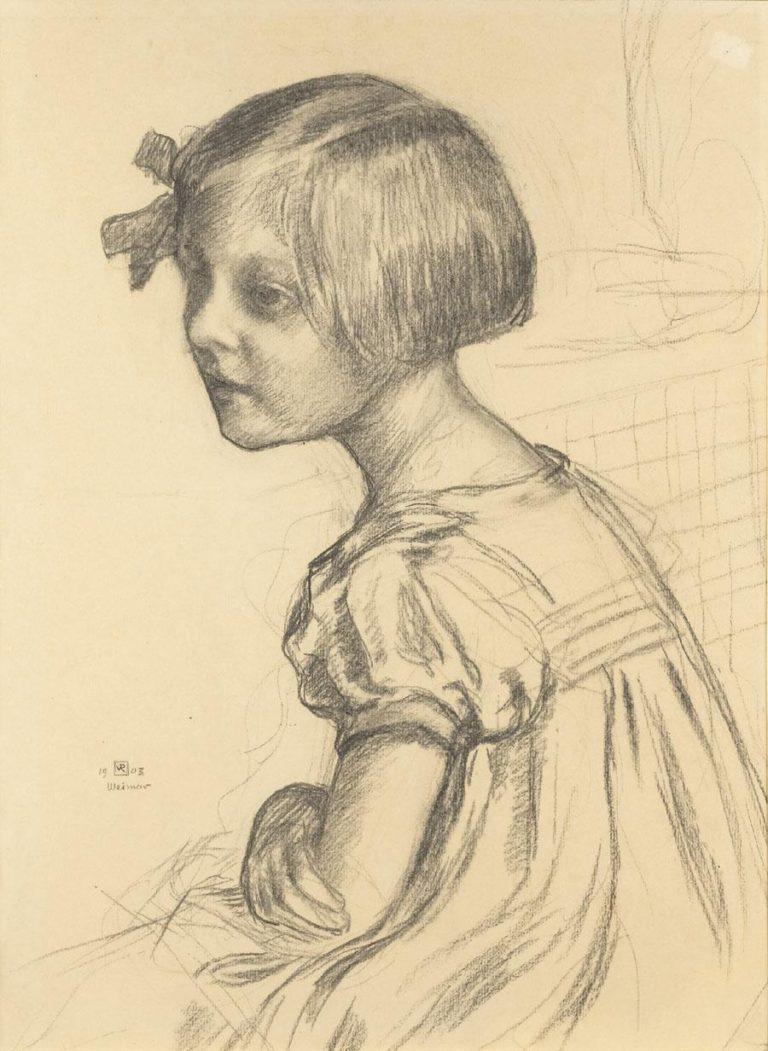 Mademoiselle Nele Van de Velde | Theo van Rysselberghe | oil painting
