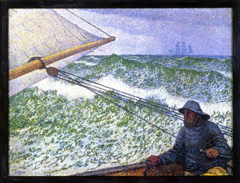 Man at the Helm | Theo van Rysselberghe | oil painting