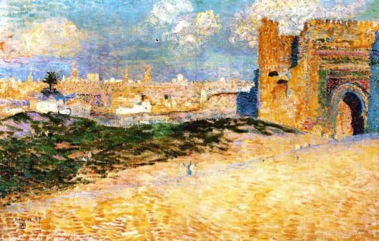 Mansour El Hay Gate Meknes | Theo van Rysselberghe | oil painting