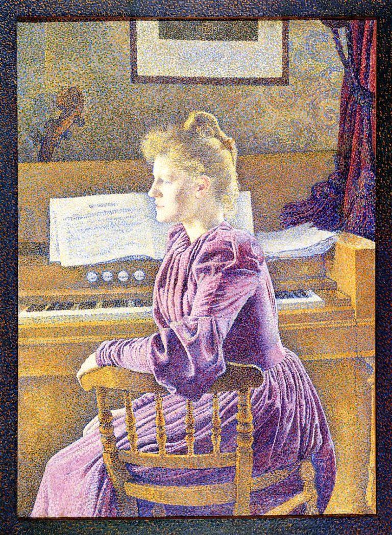 Maria Sethe at the Harmonium | Theo van Rysselberghe | oil painting