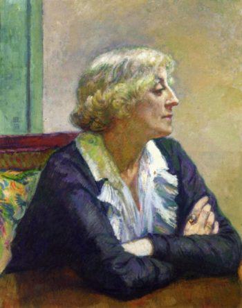 Maria Van Rysselberghe with Crossed Arms | Theo van Rysselberghe | oil painting