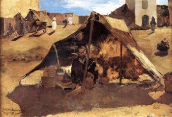 Moroccan Market | Theo van Rysselberghe | oil painting