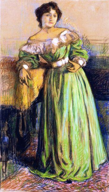 Musician | Theo van Rysselberghe | oil painting