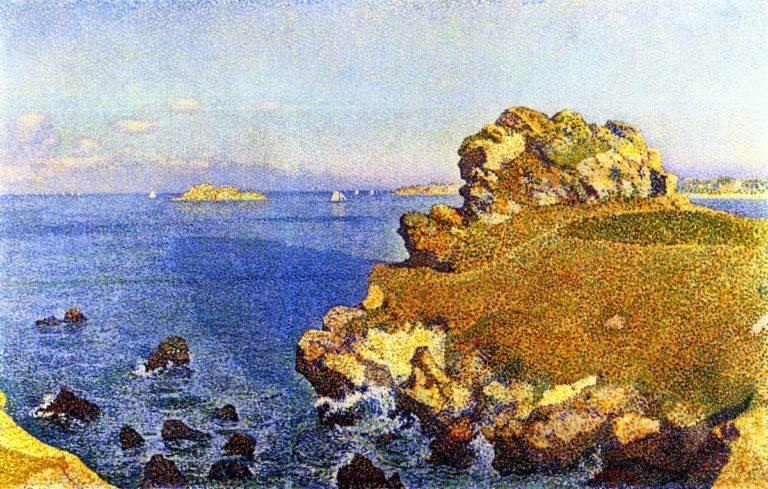Near the Rocks of Per Kiridec Roscoff | Theo van Rysselberghe | oil painting