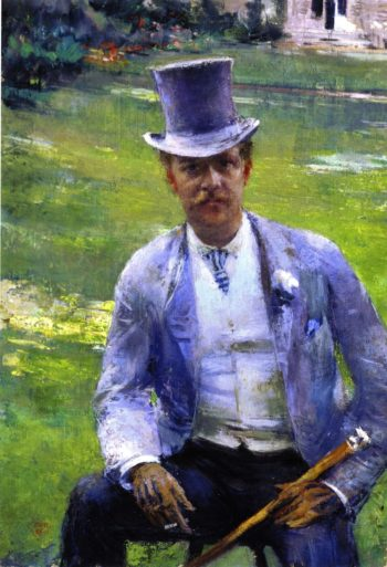 Octave Maus Reading | Theo van Rysselberghe | oil painting