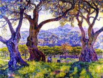 Olive Trees near Nice | Theo van Rysselberghe | oil painting