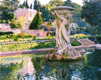 Ornamental Lake in a Park | Theo van Rysselberghe | oil painting