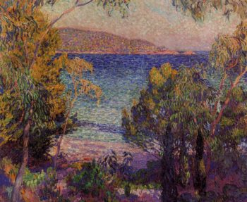 Pines and Eucalyptus at Cavelieri | Theo van Rysselberghe | oil painting