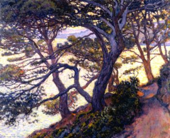 Pines at Pointe Layet | Theo van Rysselberghe | oil painting