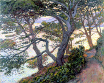 Pines of Rayol | Theo van Rysselberghe | oil painting