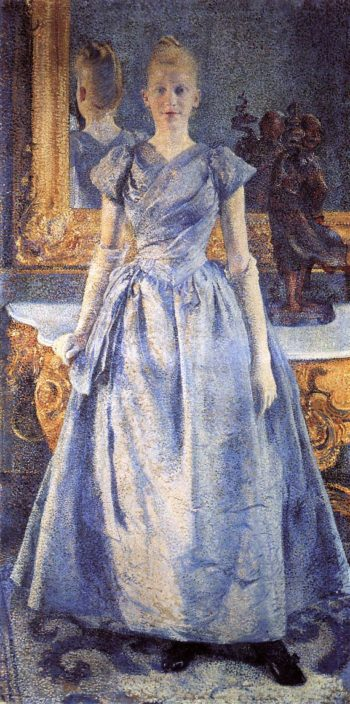 Portrait of Alice Sethe | Theo van Rysselberghe | oil painting