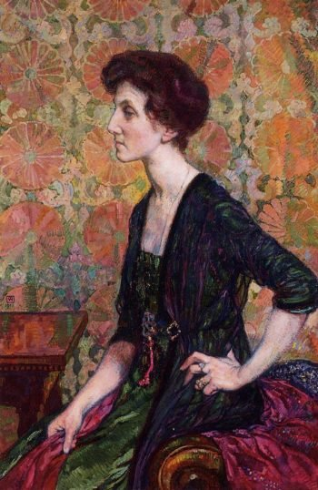Portrait of Else Lampe Von Quita | Theo van Rysselberghe | oil painting