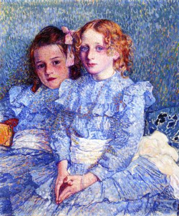 Portrait of Helene and Michette Guinotte | Theo van Rysselberghe | oil painting