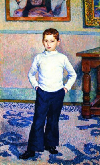 Portrait of Jean Marie Gevaert as a Boy | Theo van Rysselberghe | oil painting