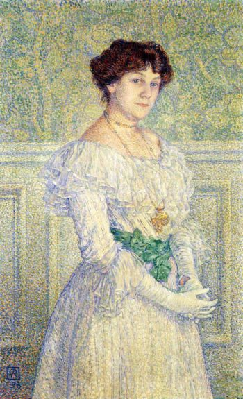 Portrait of Laure Fle | Theo van Rysselberghe | oil painting