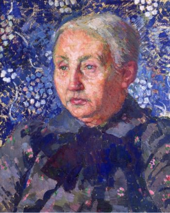 Portrait of Madame Monnon the Artist's Mother in Law | Theo van Rysselberghe | oil painting