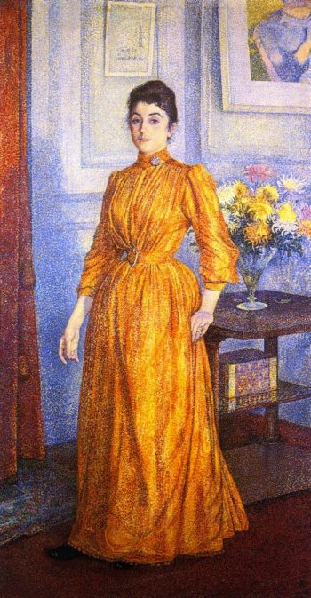 Portrait of Madame V R | Theo van Rysselberghe | oil painting