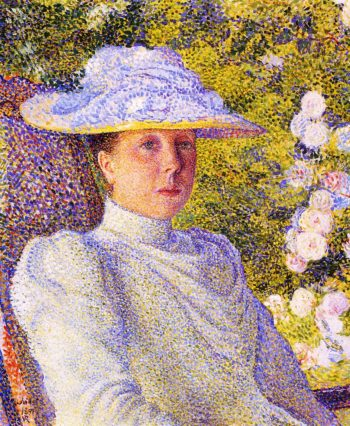 Portrait of Mathilde Vereeken | Theo van Rysselberghe | oil painting