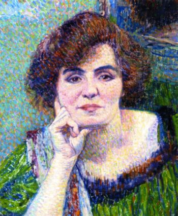 Portrait of Mme Demolderlder | Theo van Rysselberghe | oil painting