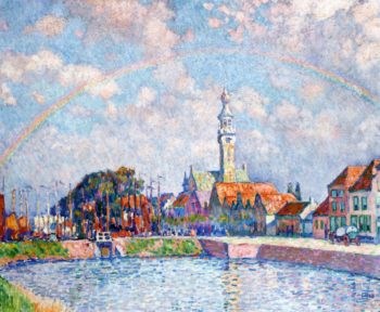 Rainbow over Veere   Theo van Rysselberghe   oil painting