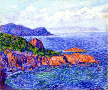 Red Rocks at Le Trayes | Theo van Rysselberghe | oil painting