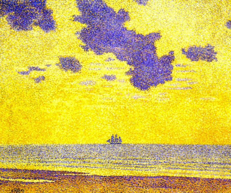 Seascape | Theo van Rysselberghe | oil painting