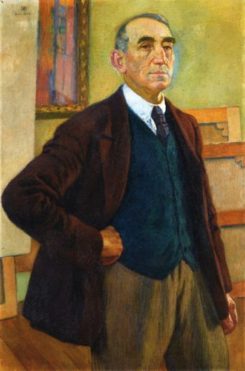 Self Portrait in a Green Waistcoat | Theo van Rysselberghe | oil painting
