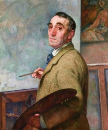 Self Portrait with Palette   Theo van Rysselberghe   oil painting