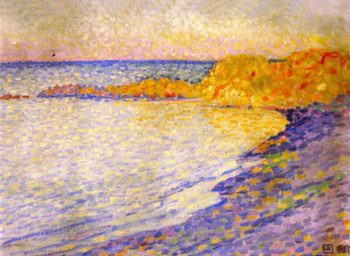 Small Beach at Saint Tropez | Theo van Rysselberghe | oil painting