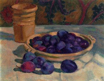 Still Life with Plums | Theo van Rysselberghe | oil painting