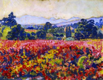 Study for Vines in October | Theo van Rysselberghe | oil painting