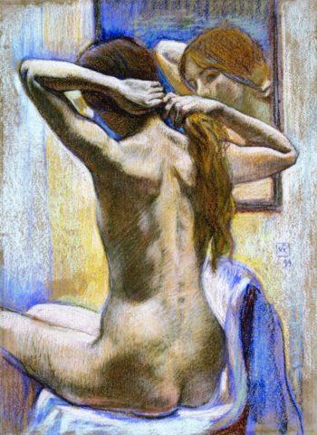 Study of Nude   Theo van Rysselberghe   oil painting
