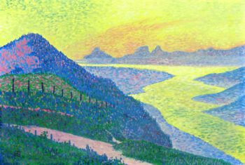 Sunset at Ambleteuse | Theo van Rysselberghe | oil painting