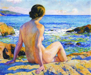 Swimmer Resting | Theo van Rysselberghe | oil painting