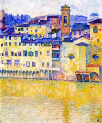 The Arno in Florence | Theo van Rysselberghe | oil painting
