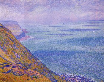 The Cap Gris Nez Foggy Weather | Theo van Rysselberghe | oil painting