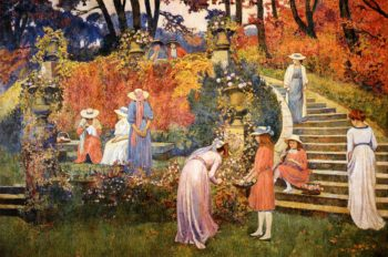 The Garden of Felicien Rops at Essone | Theo van Rysselberghe | oil painting