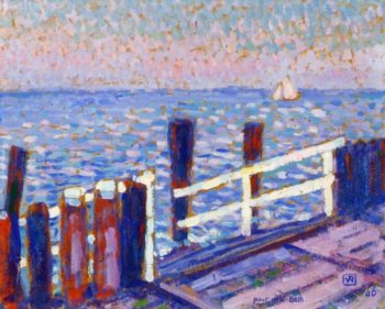 The Jetty | Theo van Rysselberghe | oil painting