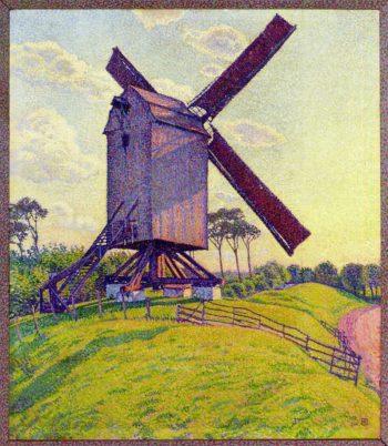 The Mill at Kelf | Theo van Rysselberghe | oil painting