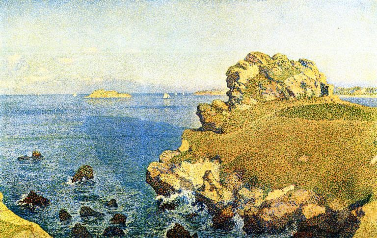 The Pointe de per Kiridec at Roscoff Brittany | Theo van Rysselberghe | oil painting