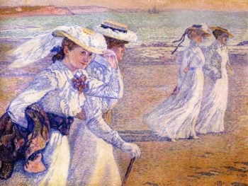 The Promenade | Theo van Rysselberghe | oil painting
