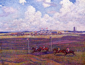 The Race Track at Boulogne sur Mer | Theo van Rysselberghe | oil painting