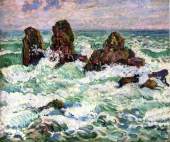 The Rocks | Theo van Rysselberghe | oil painting